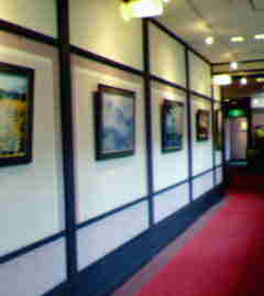 館内で写真展