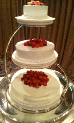 シンプルだけどかわいいケーキ