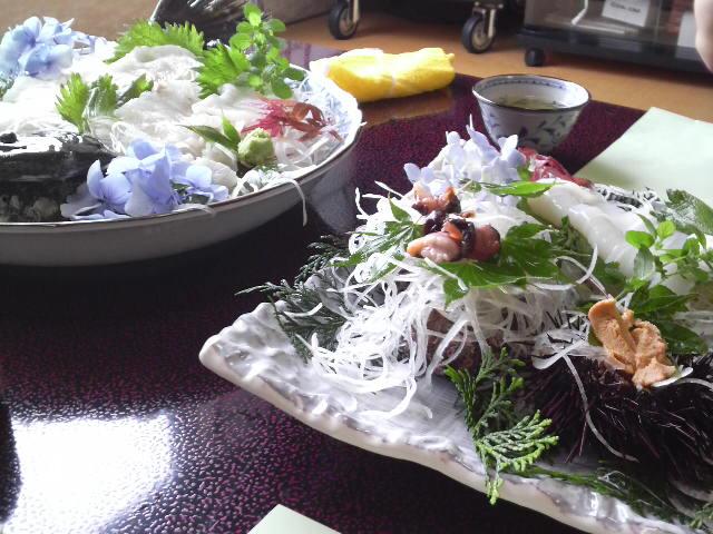 今日のお昼海鮮づくし