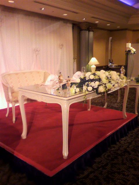 昨日の披露宴『ANA<br />  クラウンプラザホテル大阪』