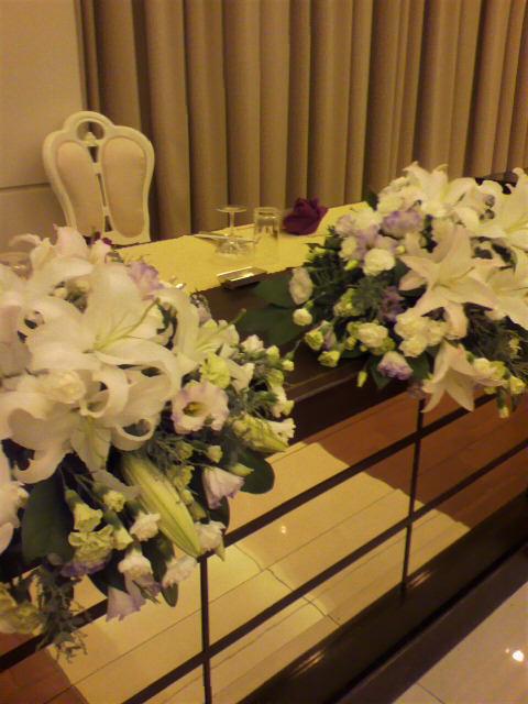 昨日の披露宴『パルティール京都』