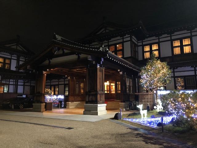 奈良ホテルのクリスマスイルミネーション